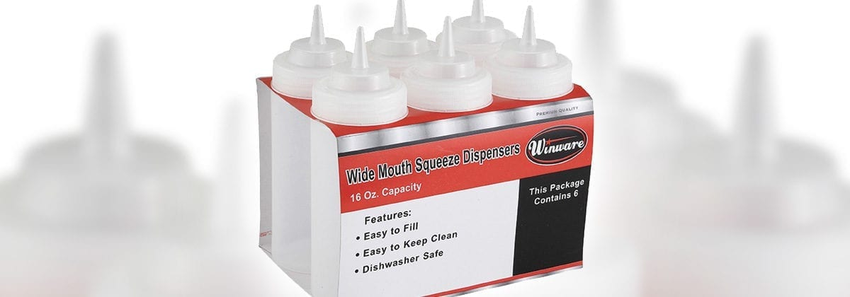 winco plastic squeeze bottles 6-pack