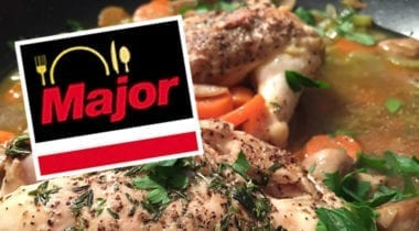 chicken in stock and major logo