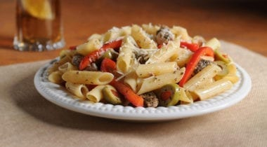heartland gluten-free penne with olives and red peppers