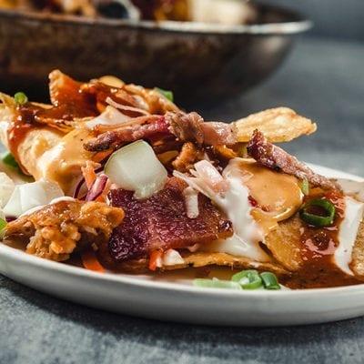 pulled pork dish with kogi sauce