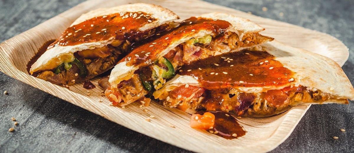 quesadilla with kogi sauce