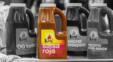 kogi salsa roja sauce bottle highlighted