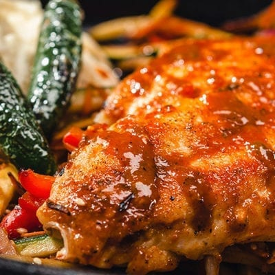 seared snapper fish with jalapenos and kogi sauce