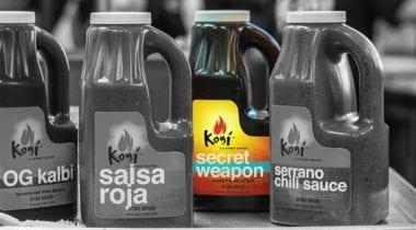 kogi secret weapon sauce bottle highlighted