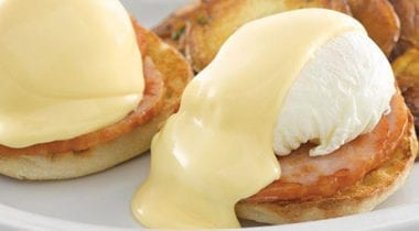 eggs Benedict with minors hallandaise sauce