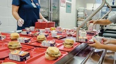 school lunch trays