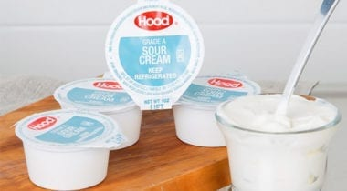 hood sour cream portion cups