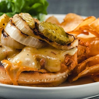 kogi sauce with fried chicken sandwich
