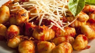gnocchi pasta with red sauce