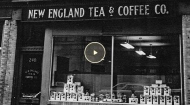 new england tea and coffee vintage store front
