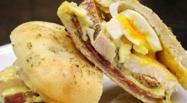 turkey bacon egg sandwich