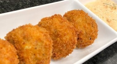 fried chicken thigh croquettes