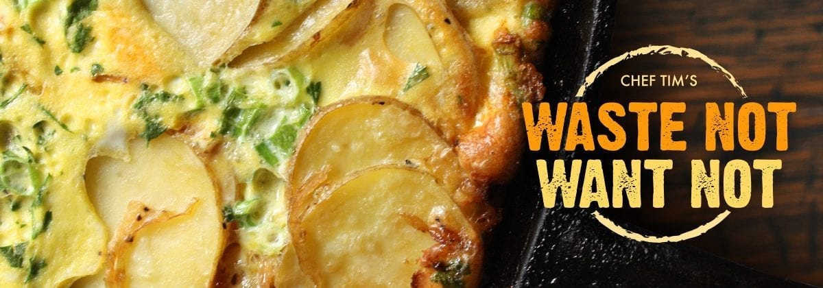 frittata, waste-not want-not banner