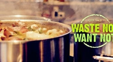 waste not want not large pot of soup