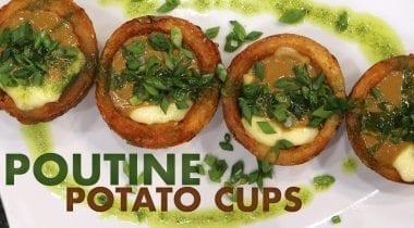 poutine potato cups banner