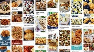 super bowl pinterest collage