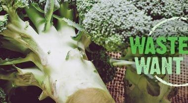 broccoli stalks, waste-not want-not graphic