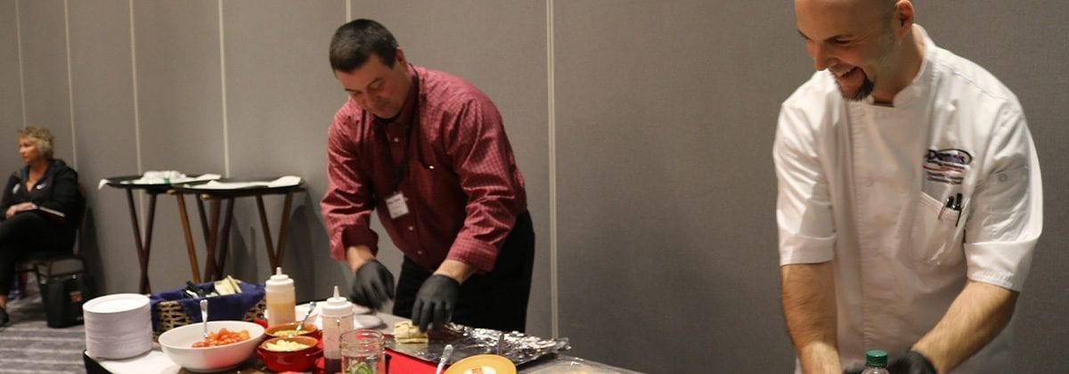 chef doing cooking demonstration