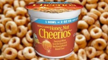honey nut cheerios, school single serve bowl