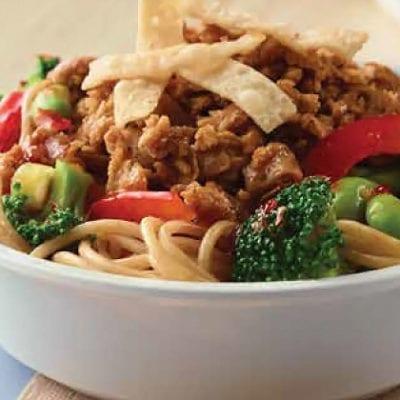 Asian noodle bowl, school lunch