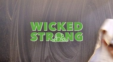 wicked strong cleaner logo graphic