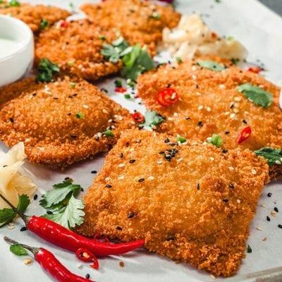 fried pork cutlets entree