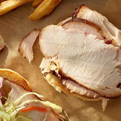 sliced bbq turkey