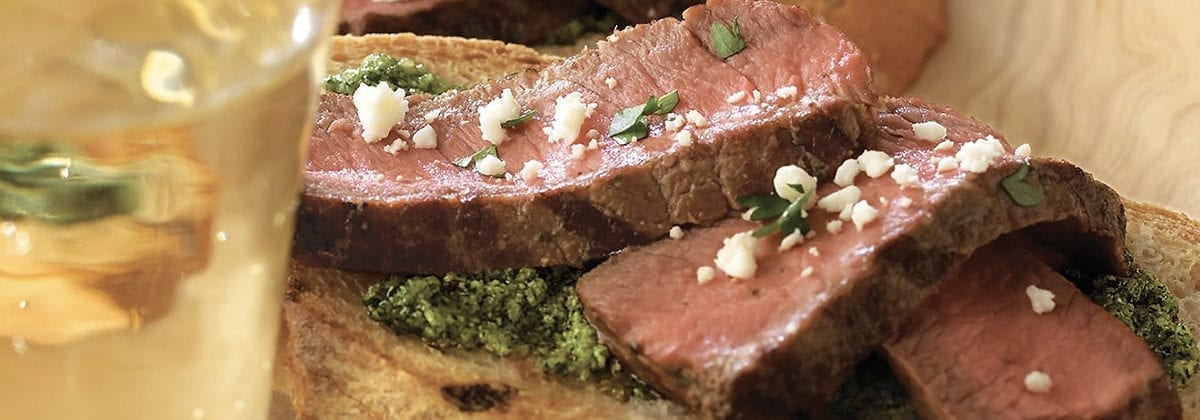 sliced beef with cilantro