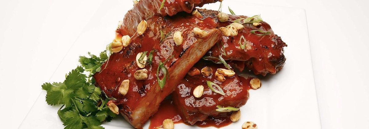 ribs in sriracha sauce