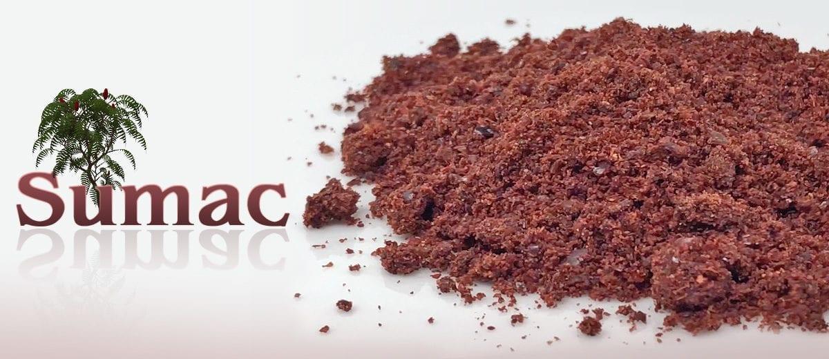 dried sumac, powder and graphic
