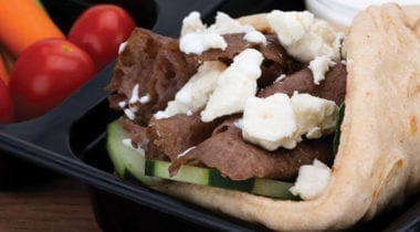 beef gyro packed lunch