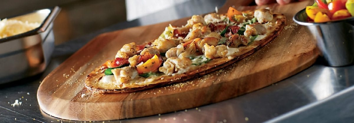 chicken flatbread pizza