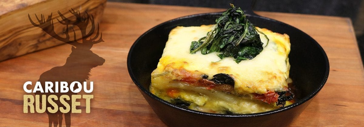 lasagna in cast iron skillet