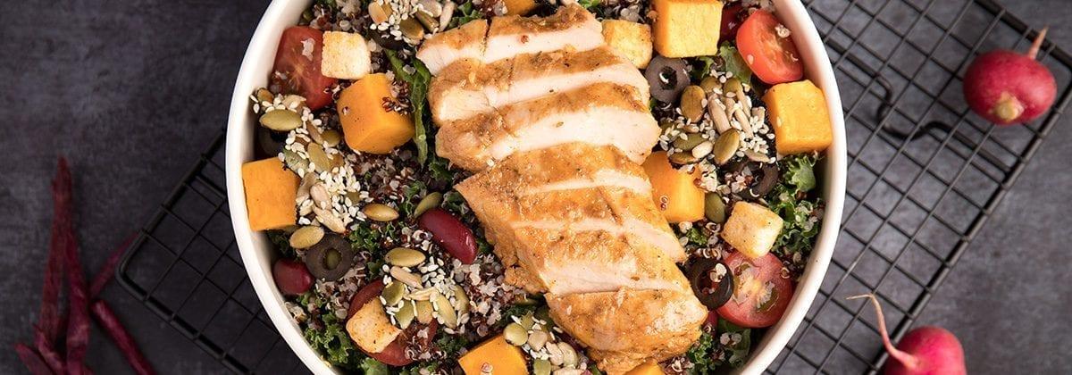chicken and quinoa dish