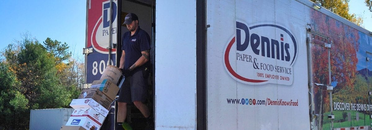 delivery driver exiting truck