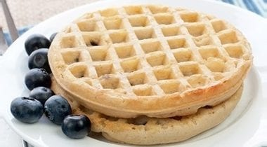 blueberry waffles whole grain