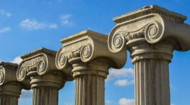 roman greco pillars
