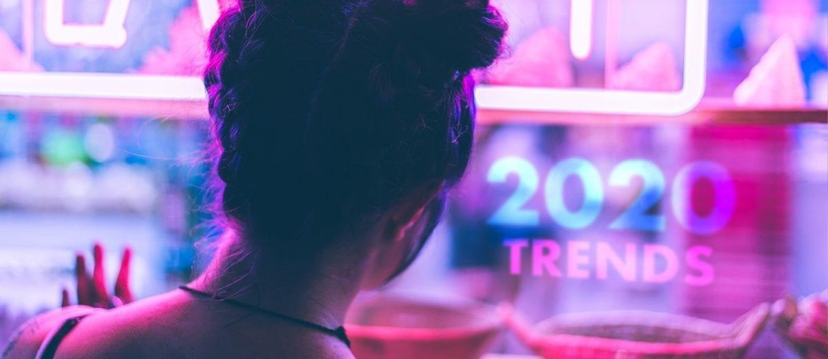 girl in neon window