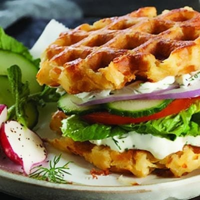 waffle fries sandwich