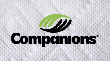 Companions Logo with Paper towel background