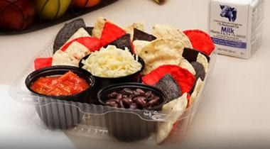 Tri Colored Tortilla Chips and Dip