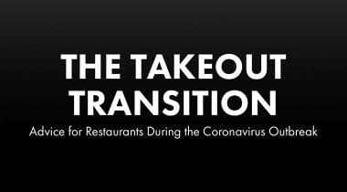 takeout transition advice for restaurants