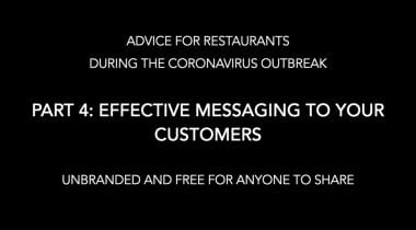 takeout transition messaging