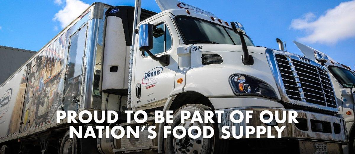 Dennis Delivery Truck Food Service banner