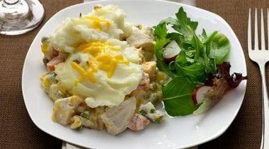 potatoes on plate dinner