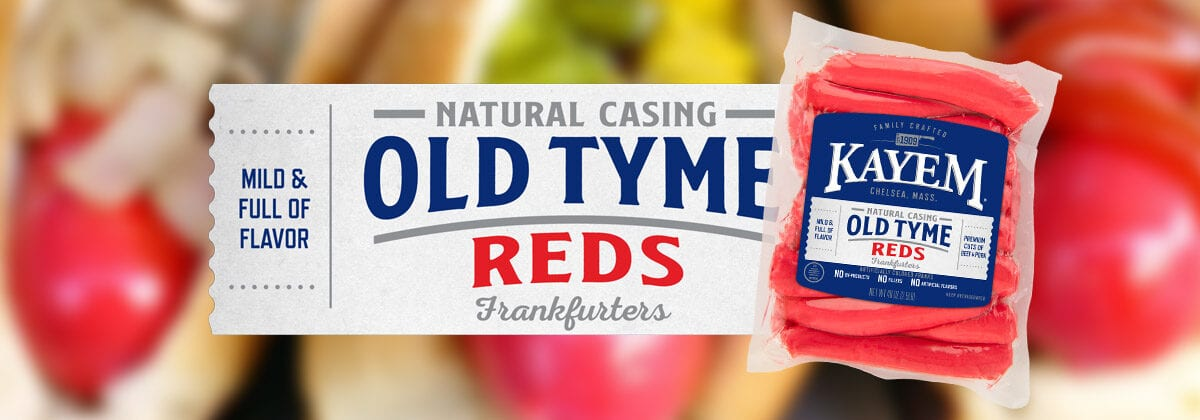 old tyme red hotdogs
