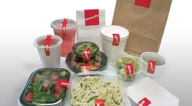 tamper evident labels on food packaging
