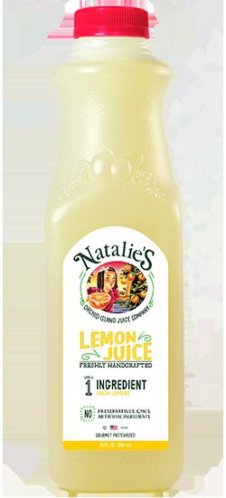 natalies lemon juice bottle
