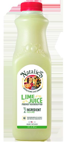 Natalie's lime juice bottle