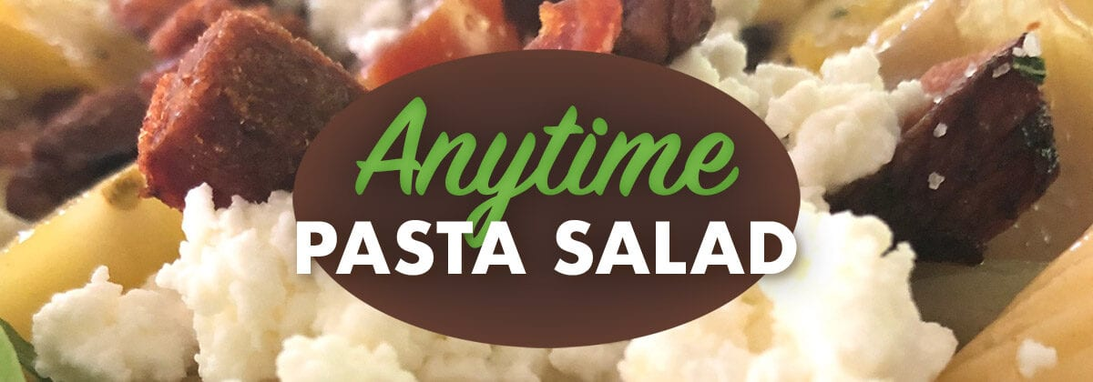 Anytime Pasta Salad banner